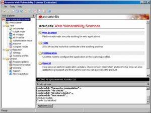 Acunetix WVS для поиска различных уязвимостей на web-сайтах