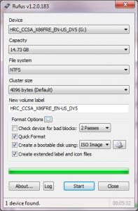 ������� Rufus ������� ����������� USB-�������� �� ������� ������� ISO