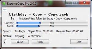 ExtremeCopy 2.3.0 - копирование файлов за считанные секунды